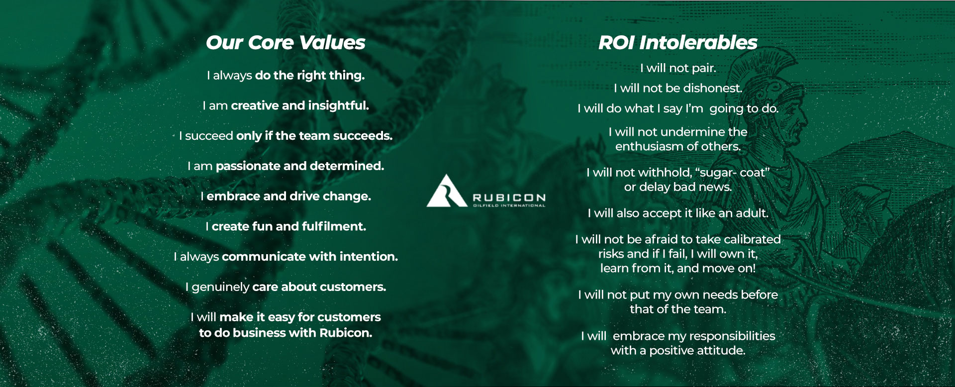 Rubicon Core Values and Intolerables